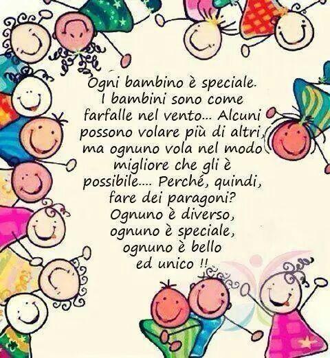 Ogni bambino é speciale…