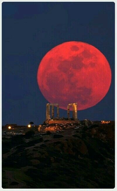 blood moon eclipse greece - photo #2