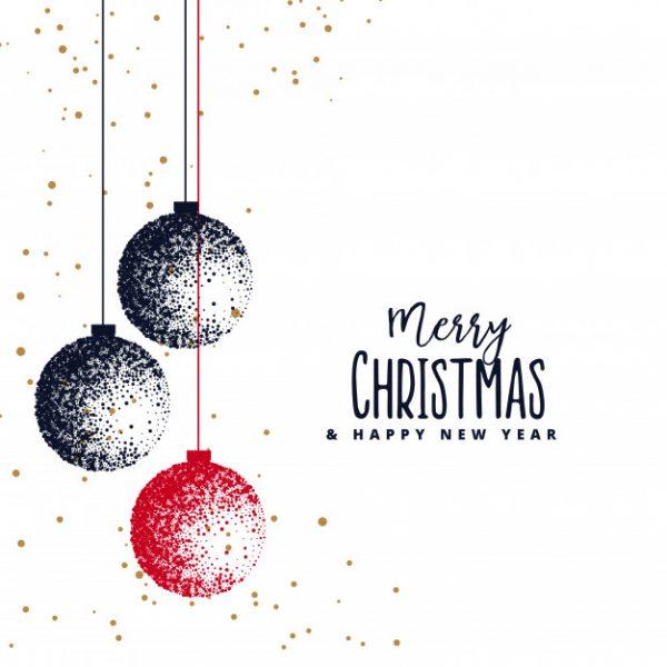 Buon natale e buon anno 2019 immagini auguri e frasi whatsapp web whatsappare - Weihnachtskugeln pastell ...
